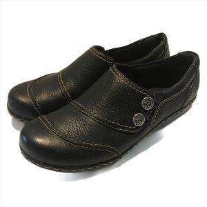 Clark's Bendables Blue Leather Flat Shoe  7